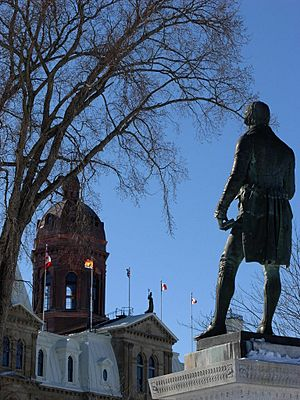 Statue of Robert Burns, across from the New Brunswick Legislature