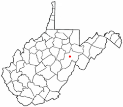 Location of Beverly, West Virginia