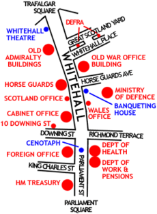 Whitehall sketch map