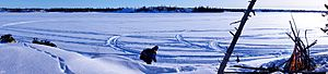 Winter Picnicking, Martin Lake, NWT