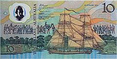 Australian $10 note commemorative front