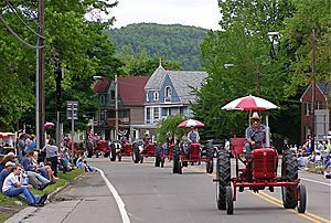 Bath New York dairy parade