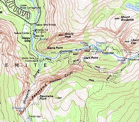 Map showing Grizzly Peak