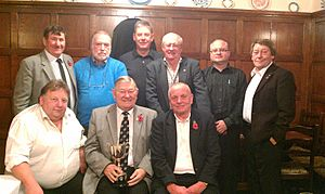 Kidsgrove Rotary with the District Darts Trophy