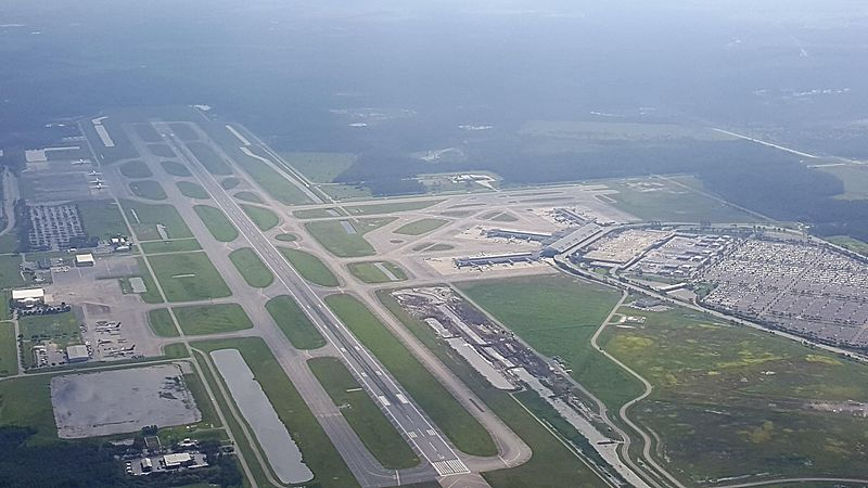 Southwest Florida International Airport Overhead Shot
