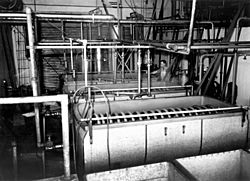 StateLibQld 1 212036 Cream pasteurising and cooling coils at Murgon Butter Factory, 1939