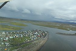 Aerial view of Unalakleet, taken 2010