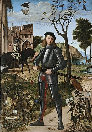 Vittore Carpaccio - Young Knight in a Landscape - Google Art ProjectFXD