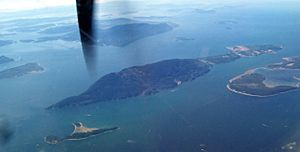 Aerial view of Lummi Island
