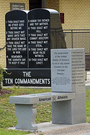 American Atheists and Commandments