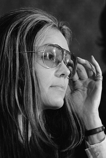 Gloria Steinem at news conference, Women's Action Alliance, January 12, 1972