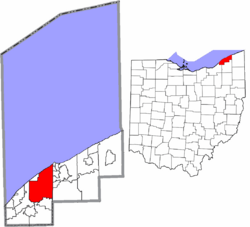 Location of Mentor in Lake County and state of  Ohio