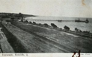 StateLibQld 2 231285 Esplanade at Redcliffe near the jetty, 1906