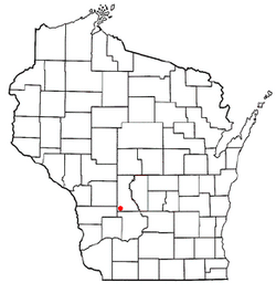 Location of Union Center, Wisconsin