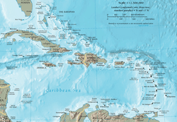 CIA map of the Caribbean