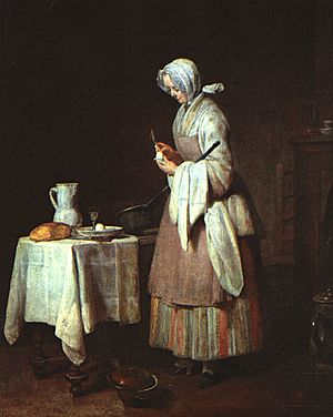 Jean Siméon Chardin - The Attentive Nurse - WGA04757