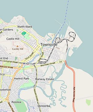 Open Street Map of Ross Island, Townsville, 2016