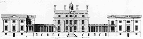 Stoke Park: the house ca.1700 ss pictured in Colen Campbell's Vitruvius Britannicus (meaning British Architect).