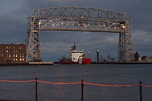 USCGC Mackinaw Entering Duluth Harbor