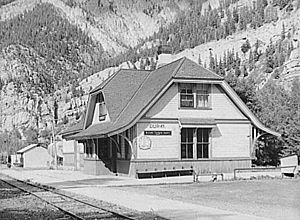 D&RGW Ouray station 1940a