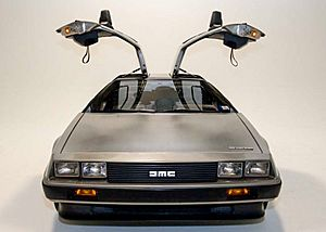 DeLorean DMC-12 with doors open