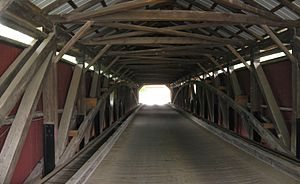 Forksville Covered Bridge Interior 3