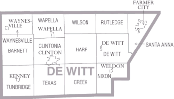 Map of DeWitt County Illinois