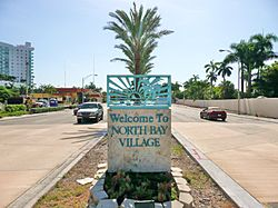 Entrance to North Bay Village on eastboundKennedy Causeway
