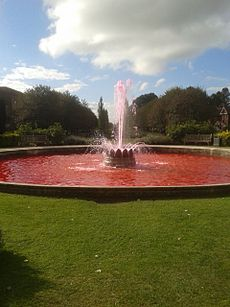 Pink fountain Welwyn Garden City