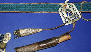 Sami belt and needle cases