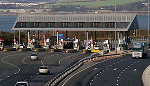 Toll booths in the UK