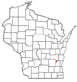 Location of Wayne, Washington County, Wisconsin