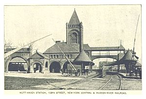 (King1893NYC) pg118 MOTT-HAVEN STATION, 138TH STREET, NEW-YORK CENTRAL & HUDSON-RIVER RAILROAD