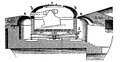Coastal fortification, gun turret schematic