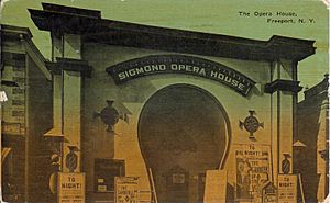 Freeport, NY - Sigmond Opera House c. 1913