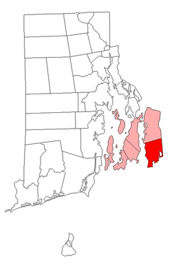 Location of Little Compton in Newport County, Rhode Island
