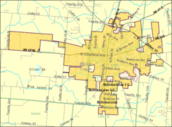 Detailed map of Bellefontaine