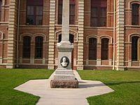 Dickson monument at Wharton County, TX, Courthouse IMG 1030
