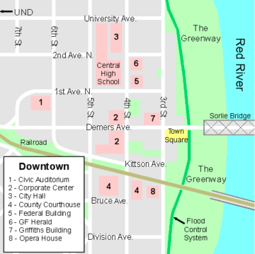 DowntownGrandForksMap
