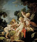 François Boucher - 'Putti with Birds'