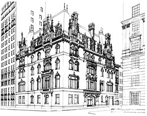 Jewish Museum building line drawing - b&w - 600 ppi