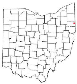 Location of Struthers, Ohio
