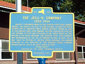 Original Jell-O Factory Historic Marker Le Roy NY Aug 10