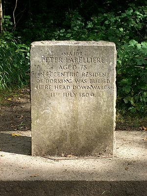 Peter Labelliere's grave, Box Hill