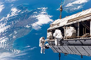 STS-116 spacewalk 1