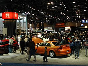 Small section of the New York International Auto Show
