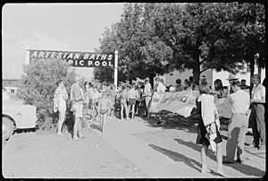 Student Action for Aborigines protest outside Moree Artesian Baths, February 1965 - The Tribune (20642815940).jpg