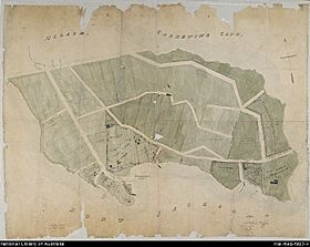 1840s Map of Kirribilli Point