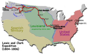 Carte Lewis-Clark Expedition-en