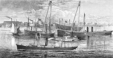 Chester waterfront ca 1875